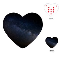 Cosmos Dark Hd Wallpaper Milky Way Playing Cards (heart)  by BangZart
