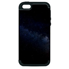 Cosmos Dark Hd Wallpaper Milky Way Apple Iphone 5 Hardshell Case (pc+silicone) by BangZart