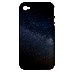 Cosmos Dark Hd Wallpaper Milky Way Apple Iphone 4/4s Hardshell Case (pc+silicone) by BangZart