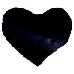 Cosmos Dark Hd Wallpaper Milky Way Large 19  Premium Heart Shape Cushions by BangZart