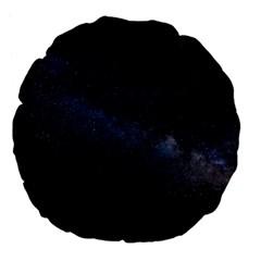 Cosmos Dark Hd Wallpaper Milky Way Large 18  Premium Flano Round Cushions by BangZart