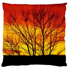 Sunset Abendstimmung Large Cushion Case (two Sides) by BangZart