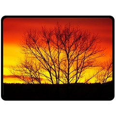 Sunset Abendstimmung Double Sided Fleece Blanket (large)  by BangZart