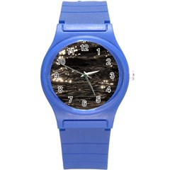 Lake Water Wave Mirroring Texture Round Plastic Sport Watch (s) by BangZart