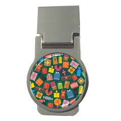 Presents Gifts Background Colorful Money Clips (round)  by BangZart