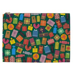 Presents Gifts Background Colorful Cosmetic Bag (xxl)  by BangZart