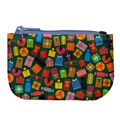 Presents Gifts Background Colorful Large Coin Purse by BangZart