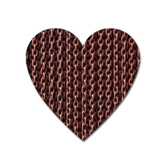 Chain Rusty Links Iron Metal Rust Heart Magnet by BangZart