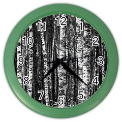 Birch Forest Trees Wood Natural Color Wall Clocks by BangZart