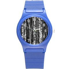 Birch Forest Trees Wood Natural Round Plastic Sport Watch (s) by BangZart