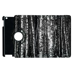 Birch Forest Trees Wood Natural Apple Ipad 2 Flip 360 Case by BangZart