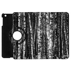 Birch Forest Trees Wood Natural Apple Ipad Mini Flip 360 Case by BangZart