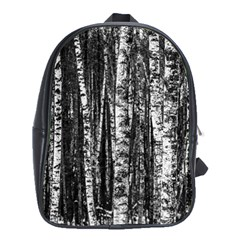 Birch Forest Trees Wood Natural School Bags (xl)  by BangZart