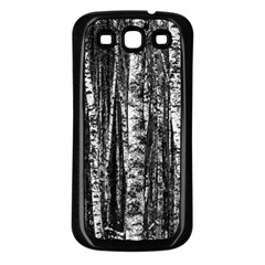 Birch Forest Trees Wood Natural Samsung Galaxy S3 Back Case (black) by BangZart