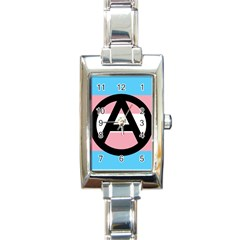 Anarchist Pride Rectangle Italian Charm Watch by TransPrints