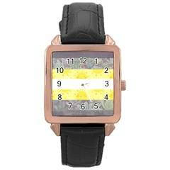 Cute Flag Rose Gold Leather Watch  by TransPrints