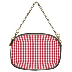 Usa Flag Red Blood Large Gingham Check Chain Purses (two Sides)  by PodArtist