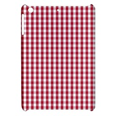 Usa Flag Red Blood Large Gingham Check Apple Ipad Mini Hardshell Case by PodArtist