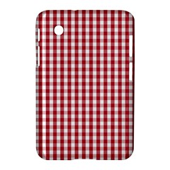 Usa Flag Red Blood Large Gingham Check Samsung Galaxy Tab 2 (7 ) P3100 Hardshell Case  by PodArtist
