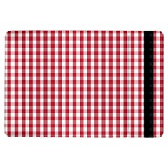 Usa Flag Red Blood Large Gingham Check Ipad Air Flip by PodArtist