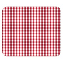 Usa Flag Red Blood Large Gingham Check Double Sided Flano Blanket (Small)