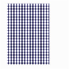 Usa Flag Blue Large Gingham Check Plaid  Large Garden Flag (two Sides) by PodArtist