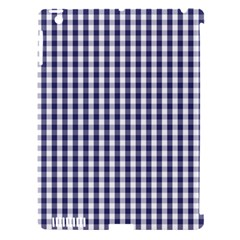 Usa Flag Blue Large Gingham Check Plaid  Apple Ipad 3/4 Hardshell Case (compatible With Smart Cover) by PodArtist