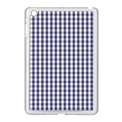Usa Flag Blue Large Gingham Check Plaid  Apple Ipad Mini Case (white) by PodArtist