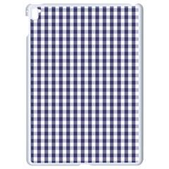 Usa Flag Blue Large Gingham Check Plaid  Apple Ipad Pro 9 7   White Seamless Case by PodArtist