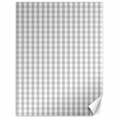 Christmas Silver Gingham Check Plaid Canvas 36  X 48   by PodArtist