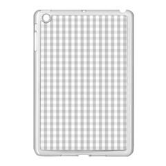 Christmas Silver Gingham Check Plaid Apple Ipad Mini Case (white) by PodArtist