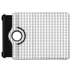 Christmas Silver Gingham Check Plaid Kindle Fire Hd 7  by PodArtist