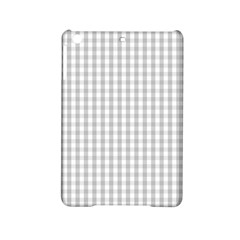 Christmas Silver Gingham Check Plaid Ipad Mini 2 Hardshell Cases by PodArtist