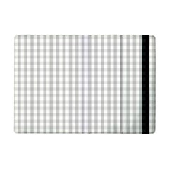 Christmas Silver Gingham Check Plaid Ipad Mini 2 Flip Cases by PodArtist
