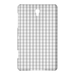Christmas Silver Gingham Check Plaid Samsung Galaxy Tab S (8 4 ) Hardshell Case  by PodArtist