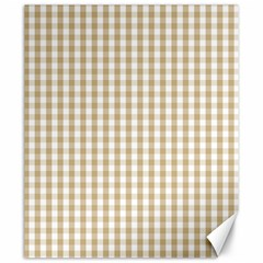 Christmas Gold Large Gingham Check Plaid Pattern Canvas 20  x 24