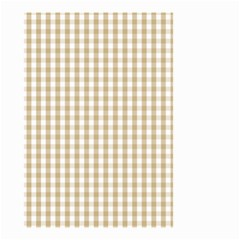 Christmas Gold Large Gingham Check Plaid Pattern Small Garden Flag (two Sides) by PodArtist
