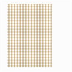 Christmas Gold Large Gingham Check Plaid Pattern Large Garden Flag (two Sides) by PodArtist
