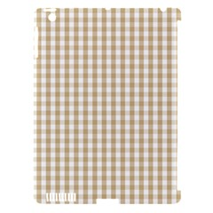 Christmas Gold Large Gingham Check Plaid Pattern Apple Ipad 3/4 Hardshell Case (compatible With Smart Cover) by PodArtist