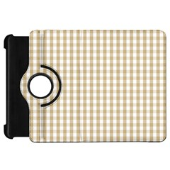 Christmas Gold Large Gingham Check Plaid Pattern Kindle Fire Hd 7  by PodArtist