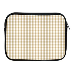 Christmas Gold Large Gingham Check Plaid Pattern Apple Ipad 2/3/4 Zipper Cases by PodArtist