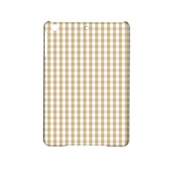 Christmas Gold Large Gingham Check Plaid Pattern Ipad Mini 2 Hardshell Cases by PodArtist