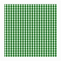 Christmas Green Velvet Large Gingham Check Plaid Pattern Medium Glasses Cloth by PodArtist
