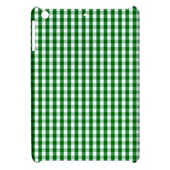 Christmas Green Velvet Large Gingham Check Plaid Pattern Apple Ipad Mini Hardshell Case by PodArtist