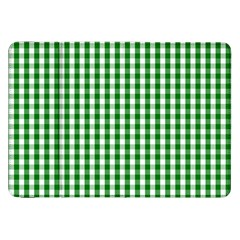 Christmas Green Velvet Large Gingham Check Plaid Pattern Samsung Galaxy Tab 8.9  P7300 Flip Case
