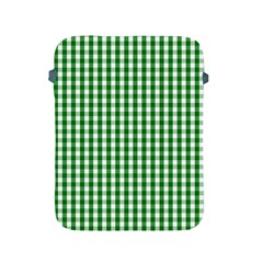 Christmas Green Velvet Large Gingham Check Plaid Pattern Apple Ipad 2/3/4 Protective Soft Cases by PodArtist