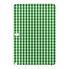 Christmas Green Velvet Large Gingham Check Plaid Pattern Samsung Galaxy Tab Pro 12 2 Hardshell Case by PodArtist