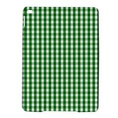 Christmas Green Velvet Large Gingham Check Plaid Pattern Ipad Air 2 Hardshell Cases by PodArtist