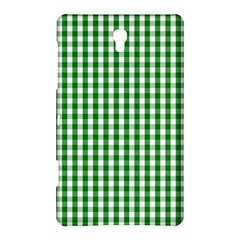 Christmas Green Velvet Large Gingham Check Plaid Pattern Samsung Galaxy Tab S (8 4 ) Hardshell Case  by PodArtist