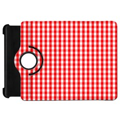 Christmas Red Velvet Large Gingham Check Plaid Pattern Kindle Fire Hd 7  by PodArtist